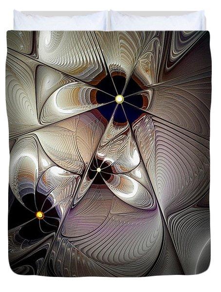 A Question Of Balance Duvet Cover by Casey Kotas