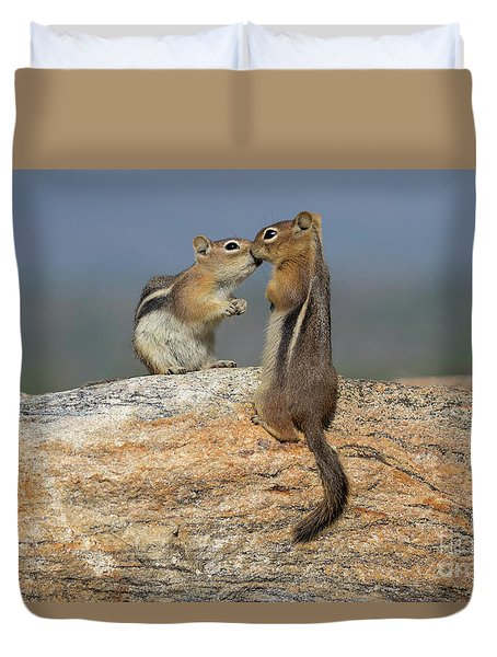 A Quick Kiss Duvet Cover