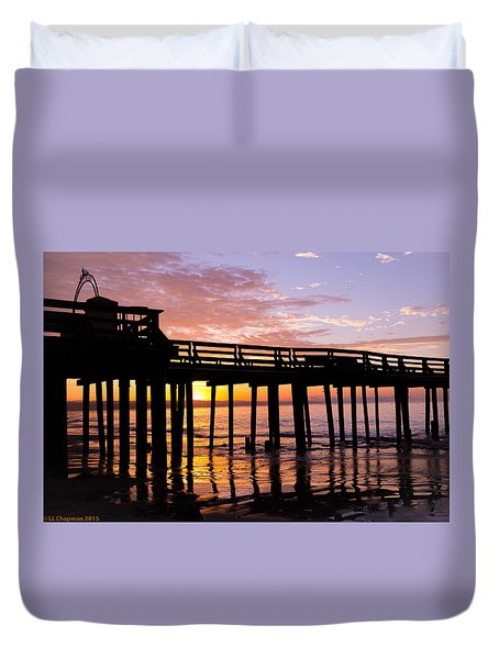 Duvet Cover featuring the photograph A Quiet And Beautiful Start by Lora Lee Chapman