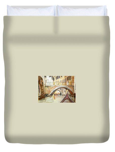 A Quiet Canal Duvet Cover