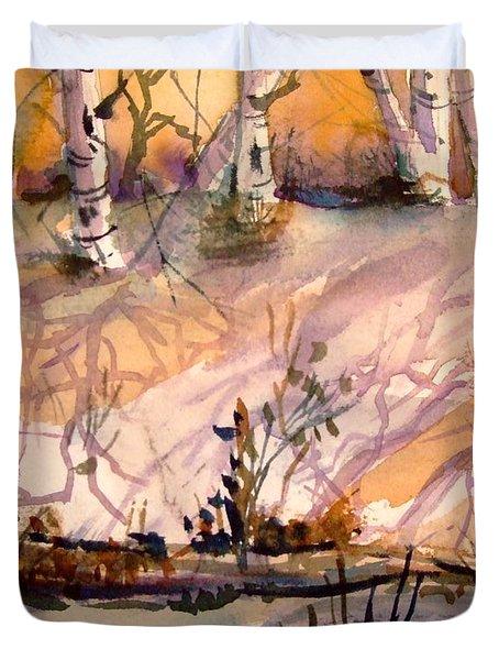 A Quiet Light Duvet Cover by Mindy Newman