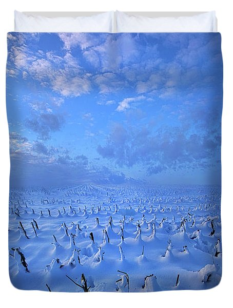 Duvet Cover featuring the photograph A Quiet Light Purely Seen by Phil Koch