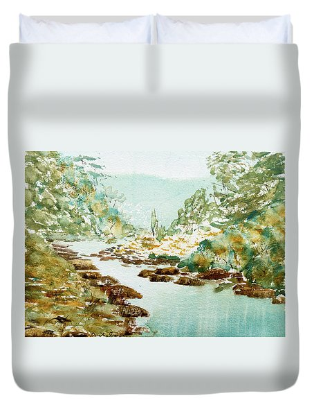 A Quiet Stream In Tasmania Duvet Cover