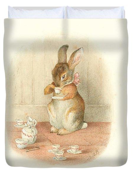 A Rabbit's Tea Party Duvet Cover
