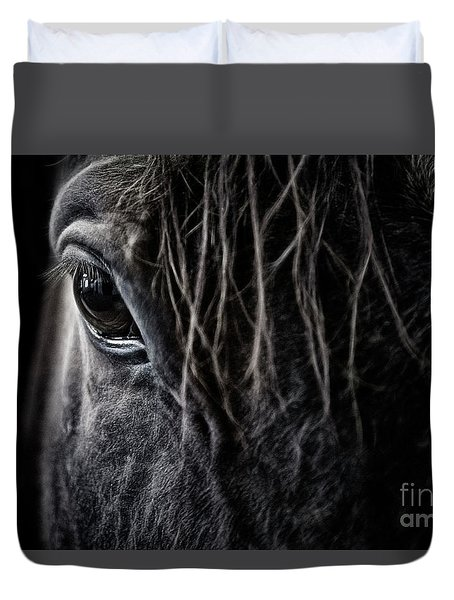 A Race Horse Named Tikki Duvet Cover