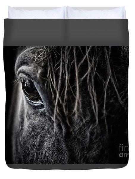 A Race Horse Named Tikki Duvet Cover