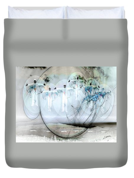 A Rainbow Of Souls Duvet Cover