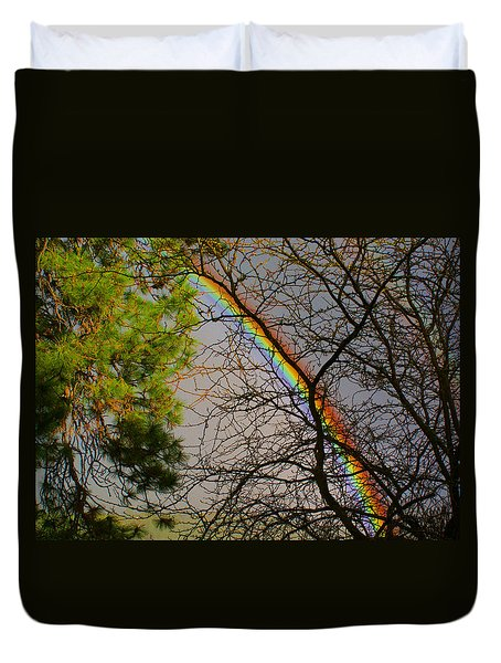 A Rainbow Tree Duvet Cover by Ben Upham III