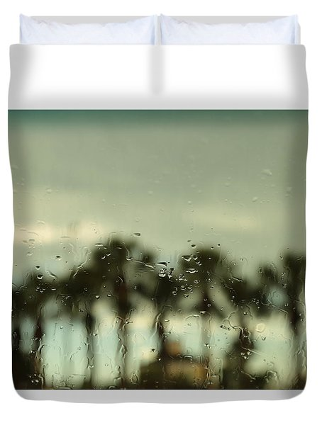A Rainy Day Duvet Cover