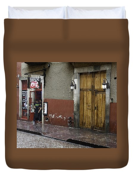 A Rainy Day In Mexico Duvet Cover