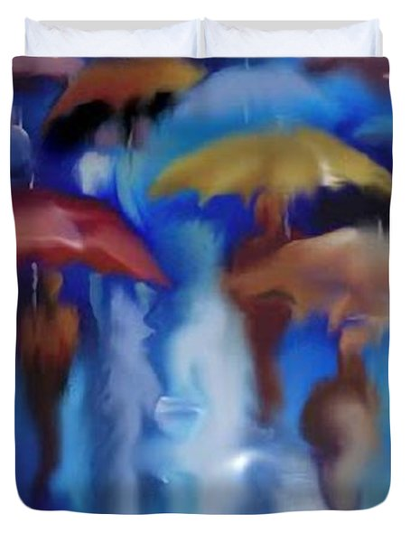 A Rainy Day In Paris Duvet Cover