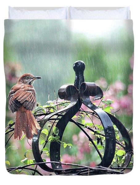 A Rainy Summer Day Duvet Cover