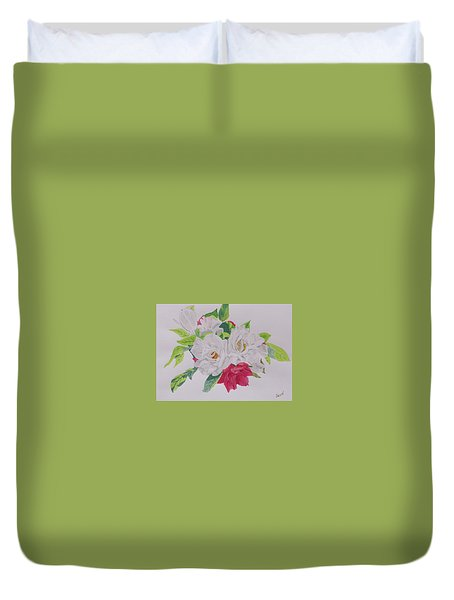 A Rose Bouquet Duvet Cover