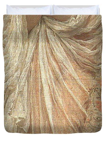 A Reader Duvet Cover by Albert Joseph Moore