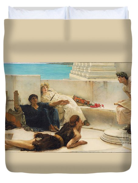 A Reading From Homer Duvet Cover by Celestial Images