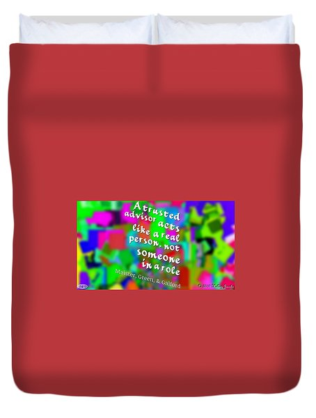Duvet Cover featuring the digital art A Real Person by Holley Jacobs