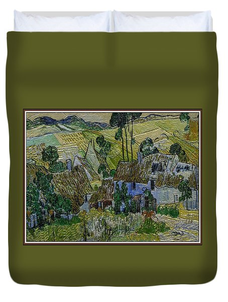 Duvet Cover featuring the painting A Replica Of A Painting  Of Van Gogh by Pemaro