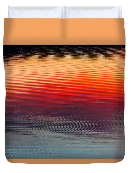 A Resplendent Reflection Duvet Cover by Jan Davies