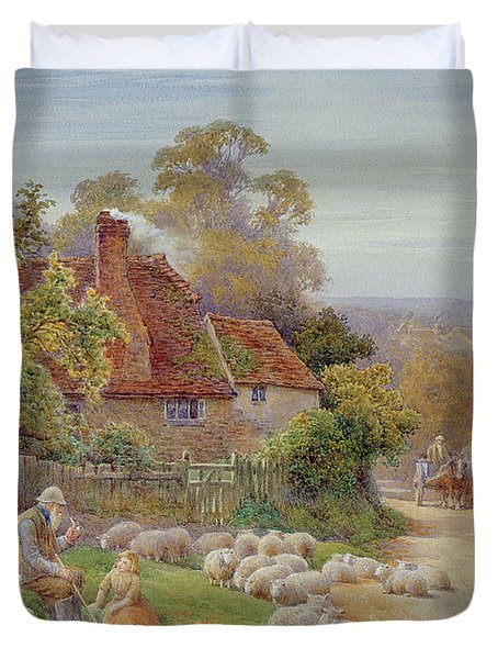 A Rest By The Way Duvet Cover by Charles James Adams