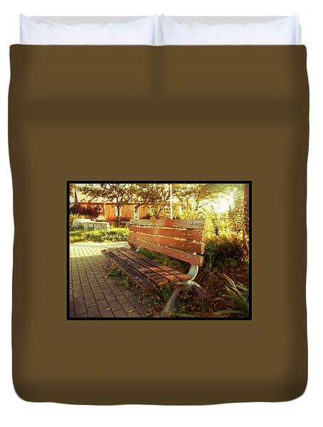 Duvet Cover featuring the photograph A Restful Respite by Shawn Dall