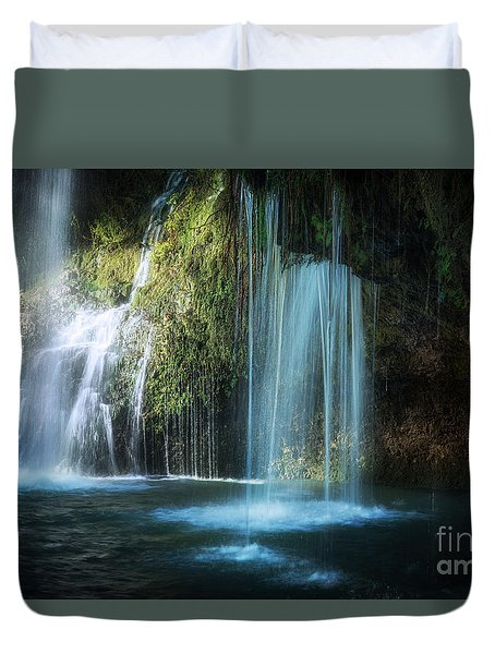 A Resting Place At Natural Falls Duvet Cover