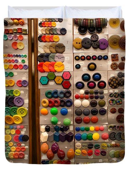 A Riot Of Buttons Duvet Cover