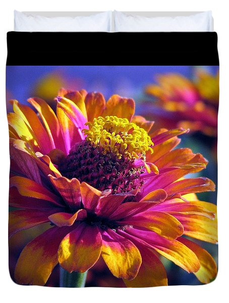 Duvet Cover featuring the photograph A Riot Of Color by Chris Anderson