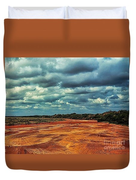 Duvet Cover featuring the photograph A River Of Red Sand by Diana Mary Sharpton