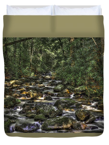 A River Through The Woods Duvet Cover