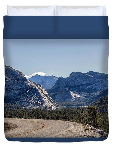 Duvet Cover featuring the photograph A Road To Follow by Everet Regal