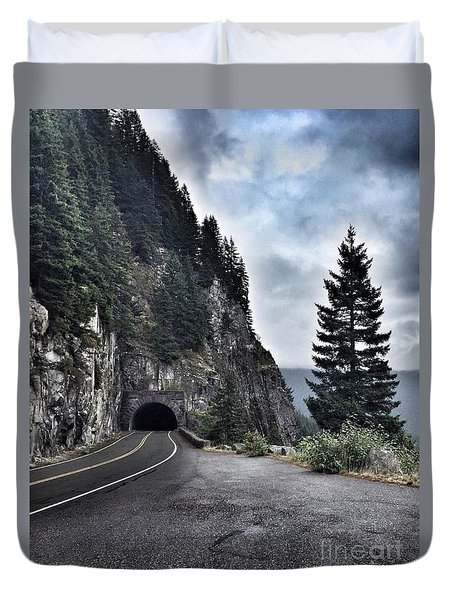 A Road To Nowhere Duvet Cover