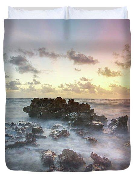 A Rocky Sunrise. Duvet Cover