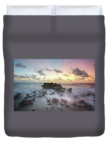 A Rocky Sunrise. Duvet Cover