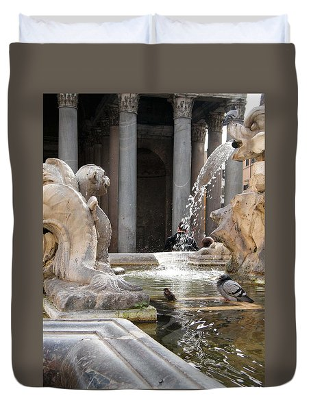 A Roman Bath Time Duvet Cover by Melinda Dare Benfield