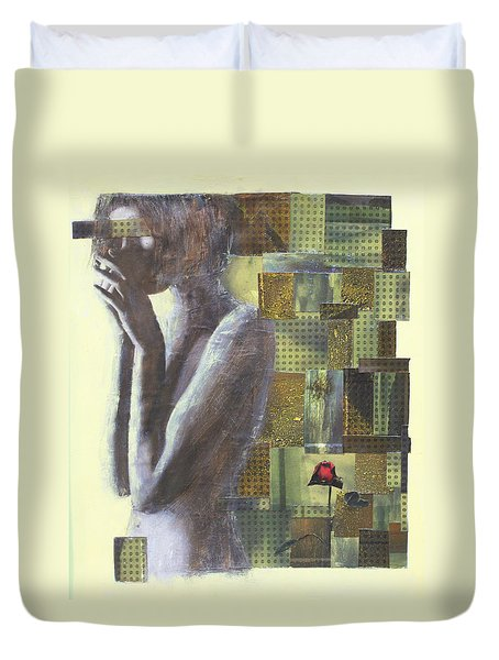Duvet Cover featuring the painting A Rose By Any Another Name by Geraldine Gracia
