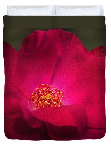 A Rose For My Love Duvet Cover
