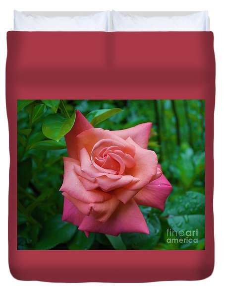 A Rose In Spring Duvet Cover