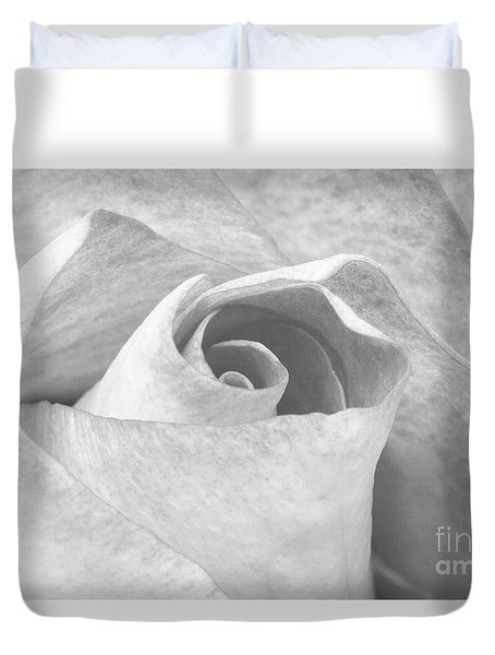 A Rose Is A Rose Black And White Floral Photo 753  Duvet Cover