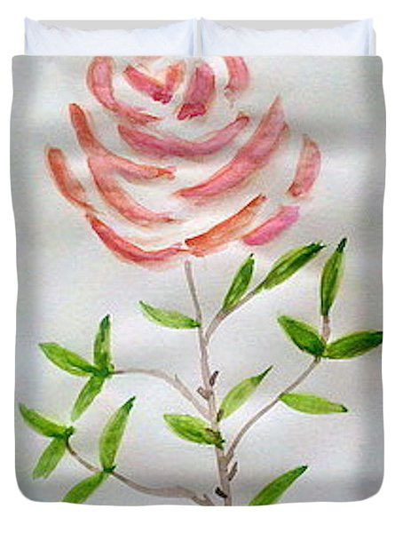 A Rose Is A Rose Is A Rose Duvet Cover