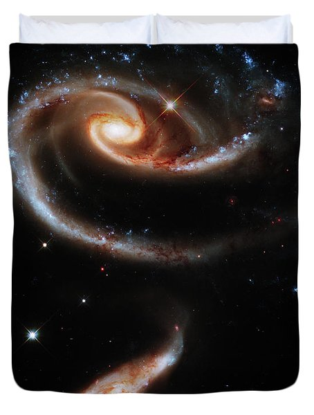 A Rose Made Of Galaxies Duvet Cover