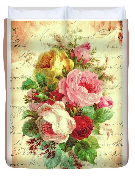 A Rose Speaks Of Love Duvet Cover by Tina LeCour