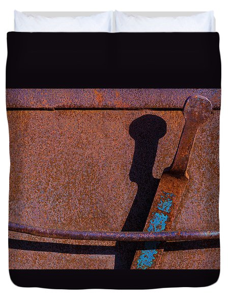 Duvet Cover featuring the photograph A Rusted Development II by Paul Wear