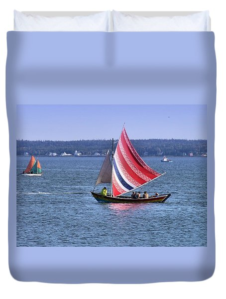 A Sail Of Many Colors Duvet Cover