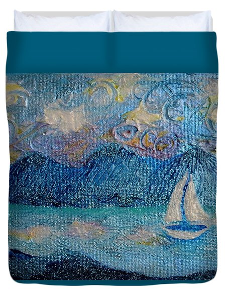A Sailboat For The Mind #2 Duvet Cover