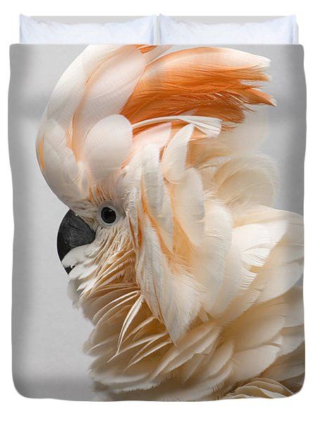 A Salmon-crested Cockatoo Duvet Cover