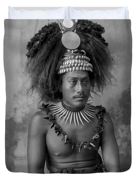 A Samoan High Chief Duvet Cover