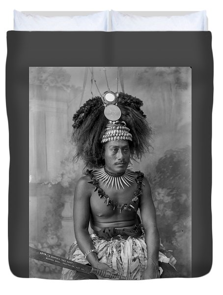 A Samoan High Chief Duvet Cover