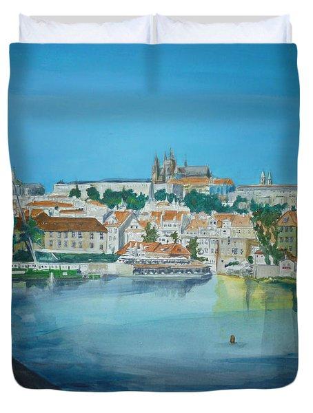 A Scene In Prague 3 Duvet Cover by Bryan Bustard