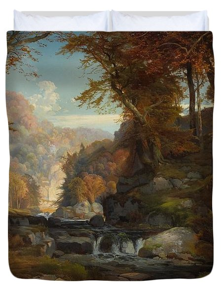 A Scene On The Tohickon Creek Duvet Cover