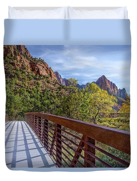 A Scenic Hike Duvet Cover